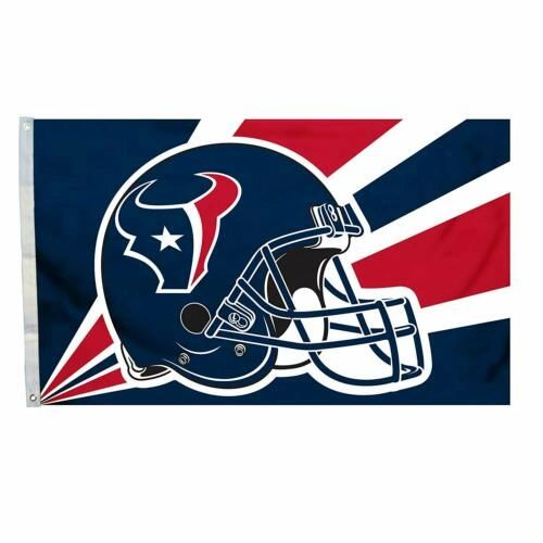 Houston Texans Team Helmet Banner Flag 3'x5' NFL Licensed