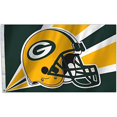 Green Bay Packers Team Helmet Banner Flag 3'x5' NFL Licensed