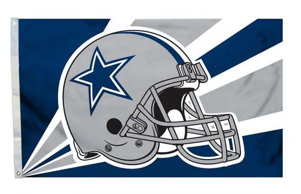 Dallas Cowboys Team Helmet Banner Flag 3'x5' NFL Licensed