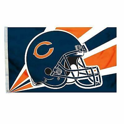 Chicago Bears Team Helmet Banner Flag 3'x5' NFL Licensed
