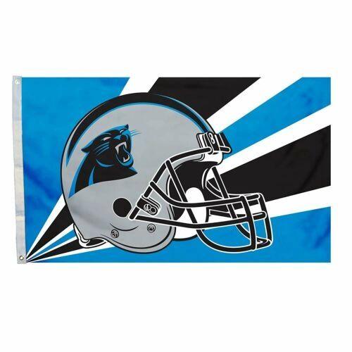 Carolina Panthers Team Helmet Banner Flag 3'x5' NFL Licensed