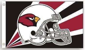 Arizona Cardinals Team Helmet Banner Flag 3'x5' NFL Licensed