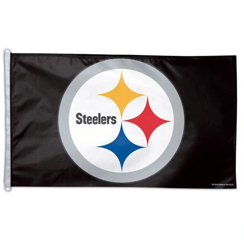 Pittsburgh Steelers Team Logo Banner Flag 3' x 5' NFL Licensed