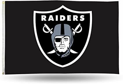 Oakland Raiders Team Logo Banner Flag 3' x 5' NFL Licensed