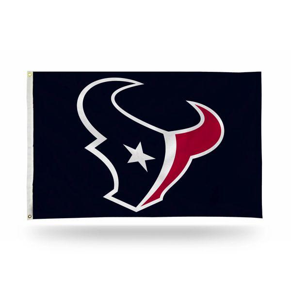 Houston Texans Team Logo Banner Flag 3' x 5' NFL Licensed