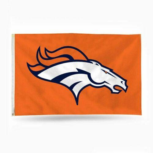 Denver Broncos Team Logo Banner Flag 3' x 5' NFL Licensed