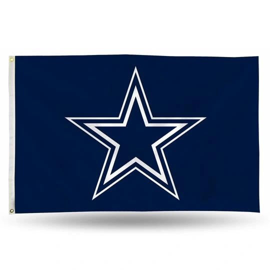 Dallas Cowboys Team Logo Banner Flag 3' x 5' NFL Licensed