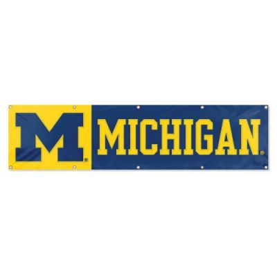 Michigan Wolverines 2' x 8' Wall Banner Flag NFL Licensed