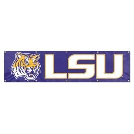 LSU Tigers 2' x 8' Wall Banner Flag NFL Licensed