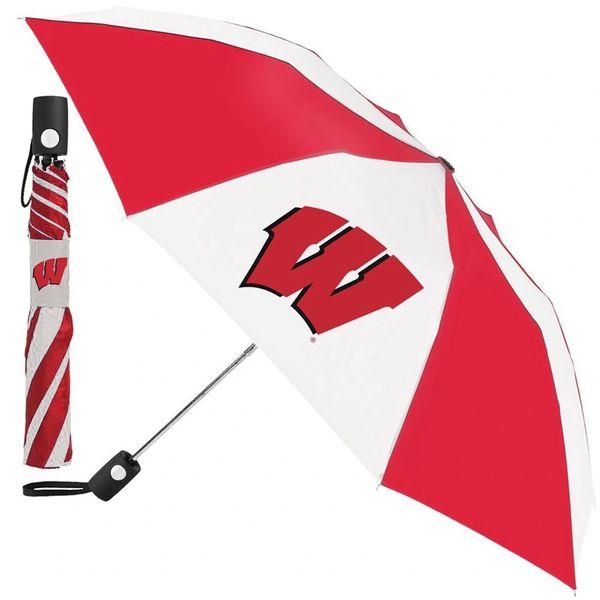 "Wisconsin Badgers Automatic Push Button Umbrella 42"" NCAA"