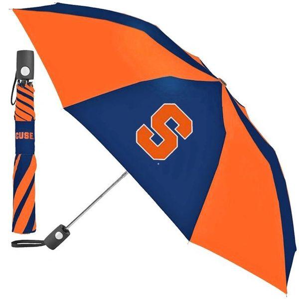 "Syracuse Orangemen Automatic Push Button Umbrella 42"" NCAA"
