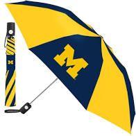"Michigan Wolverines Automatic Push Button Umbrella 42"" NCAA"