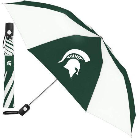 """Michigan State Spartans Automatic Push Button Umbrella 42"""" NCAA"""