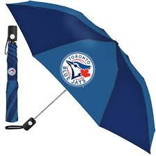 "Toronto Blue Jays Automatic Push Button Umbrella 42"" MLB Licensed"