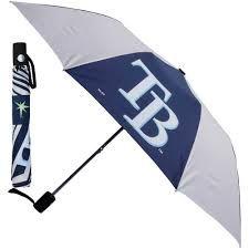 "Tampa Bay Rays Automatic Push Button Umbrella 42"" MLB Licensed"