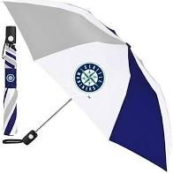 """Seattle Mariners Automatic Push Button Umbrella 42"""" MLB Licensed"""