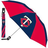 "Minnesota Twins Automatic Push Button Umbrella 42"" MLB Licensed"