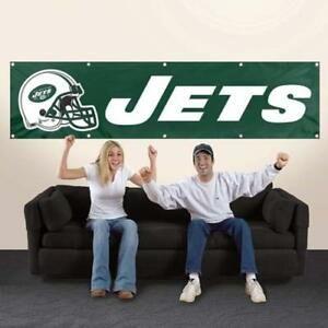 New York Jets 2' x 8' Wall Banner Flag NFL Licensed