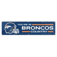 Denver Broncos 2' x 8' Wall Banner Flag NFL Licensed