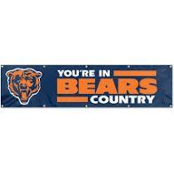Chicago Bears 2' x 8' Wall Banner Flag NFL Licensed