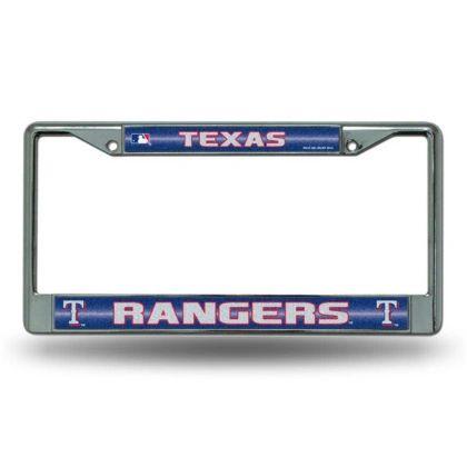 Texas Rangers Chrome Bling License Plate Frame MLB Licensed