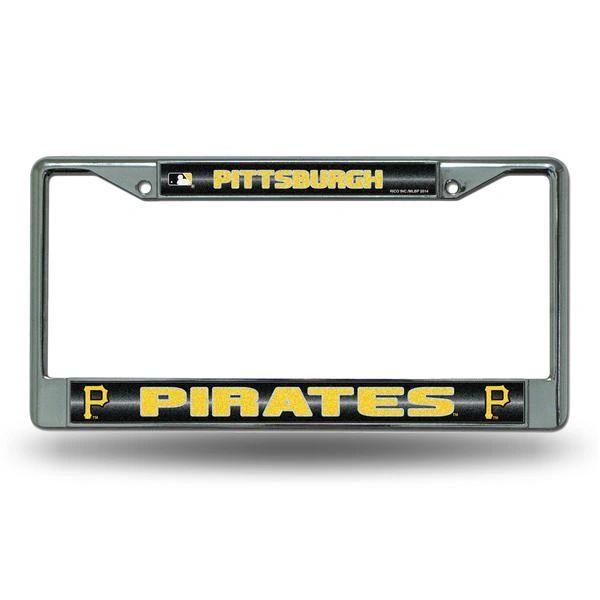 Pittsburgh Pirates Chrome Bling License Plate Frame MLB Licensed