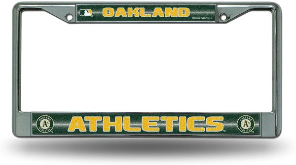 Oakland Athletics Chrome Bling License Plate Frame MLB Licensed