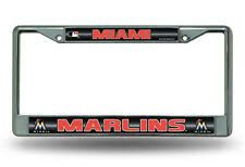 Miami Marlins Chrome Bling License Plate Frame MLB Licensed