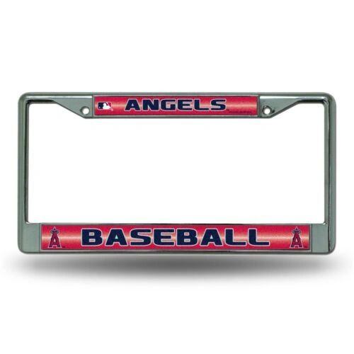 Los Angeles Angels Chrome Bling License Plate Frame MLB Licensed