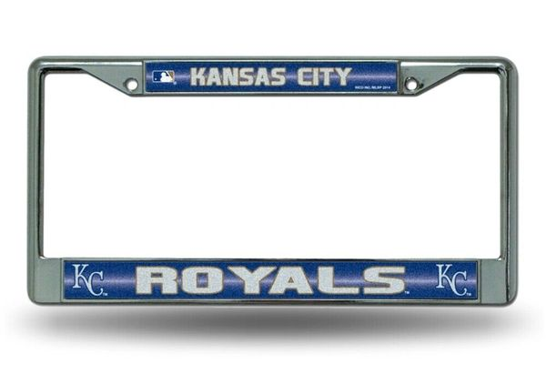Kansas City Royals Chrome Bling License Plate Frame MLB Licensed