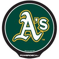 Oakland Athletics LED Window Decal Light Up Logo Powerdecal