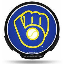Milwaukee Brewers LED Window Decal Light Up Logo Powerdecal