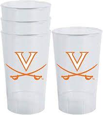 NCAA UVA Cavaliers Acrylic Tumblers 4 Pack