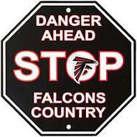 "Atlanta Falcons Acrylic Wall Stop Sign 12"" x 12"" NFL"