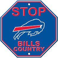 "Buffalo Bills Acrylic Wall Stop Sign 12"" x 12"" NFL"