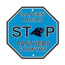 """Carolina Panthers Acrylic Wall Stop Sign 12"""" x 12"""" NFL"""