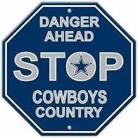 "Dallas Cowboys Acrylic Wall Stop Sign 12"" x 12"" NFL"