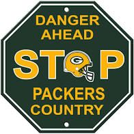 """Green Bay Packers Acrylic Wall Stop Sign 12"""" x 12"""" NFL"""