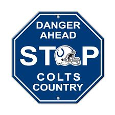 "Indianapolis Colts Acrylic Wall Stop Sign 12"" x 12"" NFL"