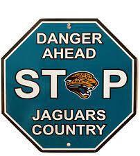 "Jacksonville Jaguars Acrylic Wall Stop Sign 12"" x 12"" NFL"