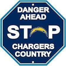 """Los Angeles Chargers Acrylic Wall Stop Sign 12"""" x 12"""" NFL"""
