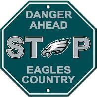 "Philadelphia Eagles Acrylic Wall Stop Sign 12"" x 12"" NFL"