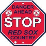 "Boston Red Sox Acrylic Wall Stop Sign 12"" x 12"" MLB Licensed"
