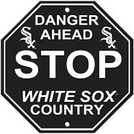 """Chicago White Sox Acrylic Wall Stop Sign 12"""" x 12"""" MLB Licensed"""