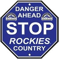 "Colorado Rockies Acrylic Wall Stop Sign 12"" x 12"" MLB Licensed"