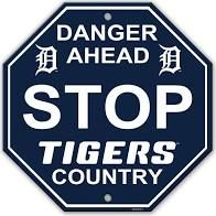 """Detroit Tigers Acrylic Wall Stop Sign 12"""" x 12"""" MLB Licensed"""