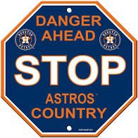 """Houston Astros Acrylic Wall Stop Sign 12"""" x 12"""" MLB Licensed"""