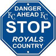 """Kansas City Royals Acrylic Wall Stop Sign 12"""" x 12"""" MLB Licensed"""