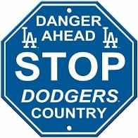 "Los Angeles Dodgers Acrylic Wall Stop Sign 12"" x 12"" MLB Licensed"