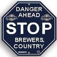 "Milwaukee Brewers Acrylic Wall Stop Sign 12"" x 12"" MLB Licensed"